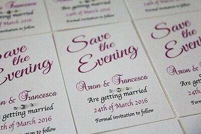 50 magnetic save the evening cards and envelopes save the date