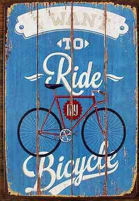 Bicycle Tin Sign Vintage Metal Plaque Poster Bar Pub Home Wall Decor