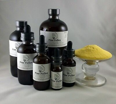Pine Pollen Tincture, Extract, Wildcrafted Highest Quality & Strength Mult Sizes