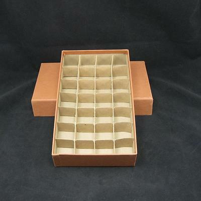 Half Dollar Round or Square Coin Tube or Roll Storage Box w/Dividers Holds 28