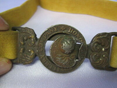 WWI British Officers Belt & Buckle / Honorable Artillery Company / GREAT PIECE!!