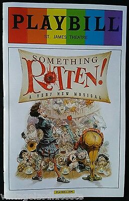 Something Rotten Playbill 2015 Pride Edition Tony Winning Actor Christian Borle