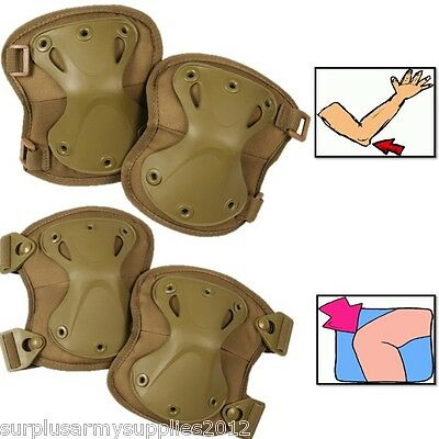 Special-Ops Armour Knee & Elbow Pads 4 Colours Mtp Army Paintballing Airsoft