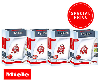 MIELE FJM HYCLEAN 3D EFFICIENCY SYNTHETIC VACUUM BAGS - x4 BOXES! GENUINE