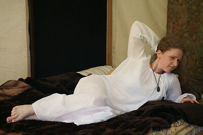 Medieval-LARP-Re enactment-DELICATE MUSLIN CHEMISE-NIGHT GOWN all Sizes