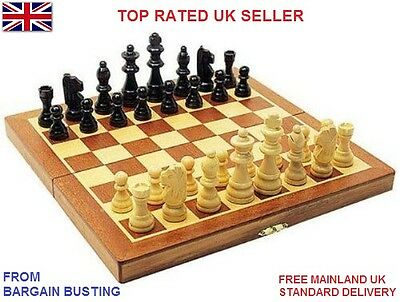 Premium Wooden Chess Only & 3-in-1 Chess-Checkers-Backgammon Sets UK Seller