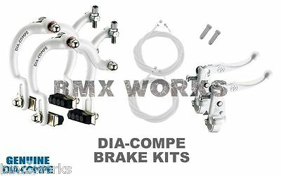 Dia-Compe White MX890 with MX121 (Tech 3) Levers Package Old School BMX Mongoose