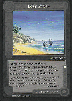 Lost at Sea Middle Earth The Wizards CCG bb Lim. Edition Mint/N.Mint 1995 ME55