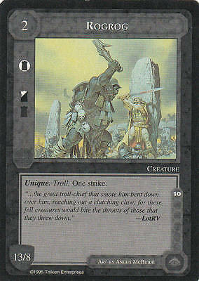 Rogrog - Middle Earth The Wizards CCG b.b. Lim. Ed. Mint/N.Mint 1995 ME59