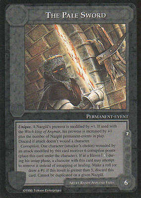 The Pale Sword -Middle Earth The Wizards CCG b.b. Lim. Ed. Mint/N.Mint 1995 ME64