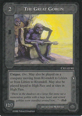 The Great Goblin - Middle Earth The Wizards CCG Lim. Ed. Mint/N.Mint 1995 ME66