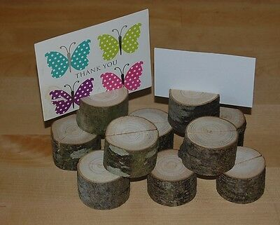 Wooden Wedding Table Place Name/Photo/Menu Holders/Shop/Stalls Etc  X 10