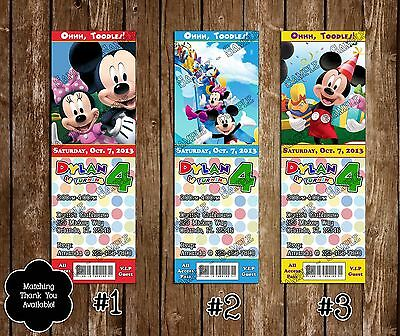 Mickey Mouse Clubhouse Birthday Ticket Invitation 20