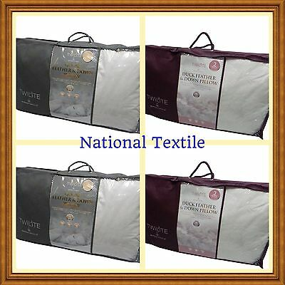 2 Luxury Duck Feather and Down Pillow OR Goose Feather and Down Pillow