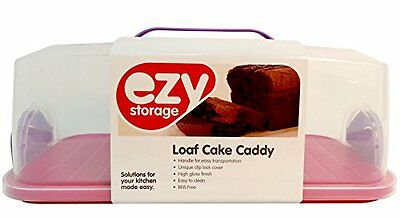 Ezy Storage In My Home Loaf Cake Caddy  Blue/Purple/Pink/Grey