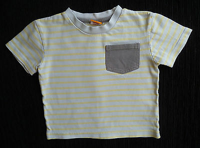 Baby clothes/toddler BOY 18-24m silver grey/yellow short sleeve Minimode T-shirt
