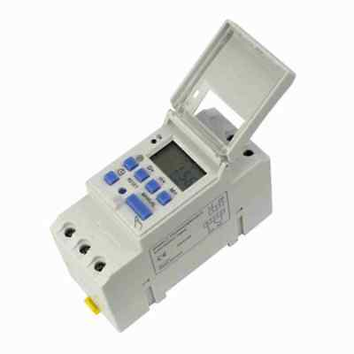 DIN Rail Digital LCD Power Programmable Timer DC 12V 16A Time Relay Switch UK