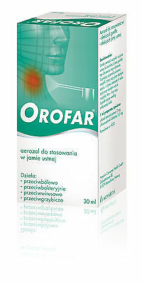 OROFAR SPRAY  30ml infections of the oropharyngeal cavity, sore throat NOVARTIS