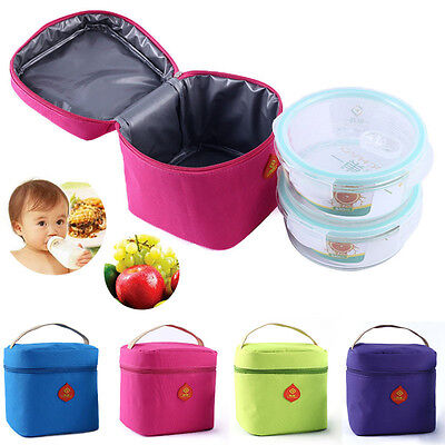 New Waterproof Portable Picnic Insulated Storage Box Lunchboxes Tote Lunch Bag