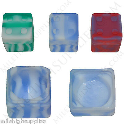 (4) New 10ml Super Slip Non Stick Silicone Jar Block Container MIXED ALMOST GONE
