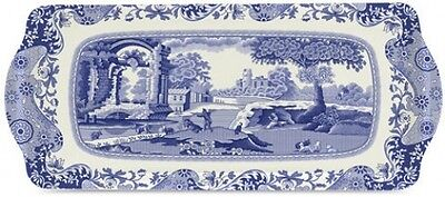 Spode Blue Italian Melamine Sandwich Tray (By Pimpernel) New