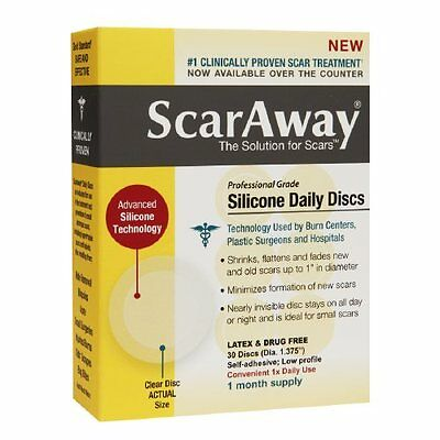 ScarAway Professional Grade Silicone Daily Discs Clear Self-Adhesive 30 ea