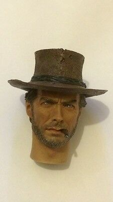 Custom Made 1/6 Scale Clint Eastwood Head Sculpt Fit hot toys Body the good