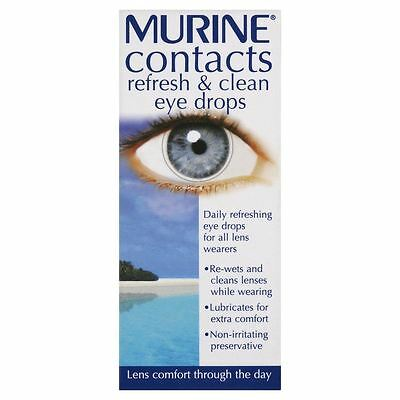 Murine Contacts Refresh & Clean Eye Drops - 15ml