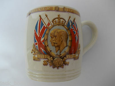 King George V And Queen Mary Silver Jubilee Commemorative Mug 1910-1935