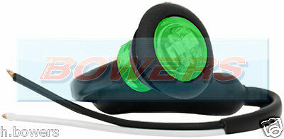 "12V/24V Green Small 1"" Round Led Button Marker Lamp/Light Universal Marine Car"