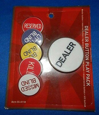 Dealers Button Play Pack - 6 Button Set