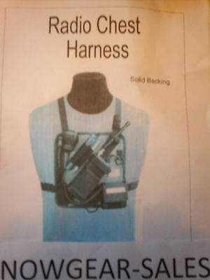 Hands Free Radio Chest Harness W/ Battery pocket  201-S