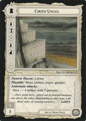 Cirith Ungol - Middle Earth The Wizards CCG b.b. Lim. Ed. Mint/N.Mint 1995 ME71