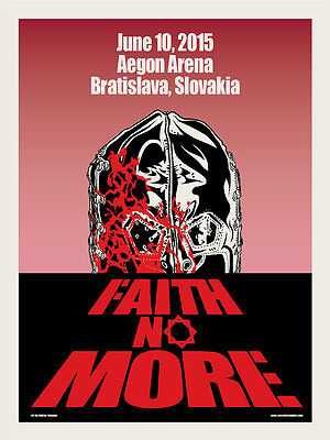 FAITH NO MORE poster Slovakia 2015 by Ross Sewage DAWN OF THE DEAD