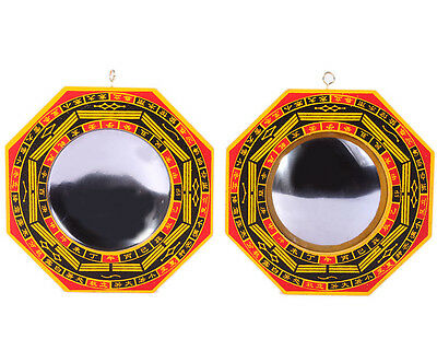 CONCAVE BAGUA MIRROR FENG SHUI Pakua New Chi 4""