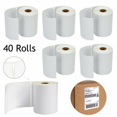 40 Rolls Thermal Shipping Labels 220 Per Roll 4x6 Compatible Dymo 4XL 1744907