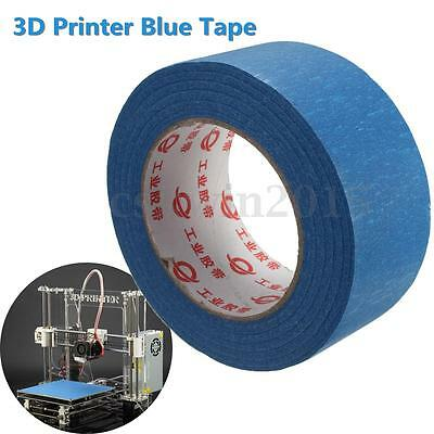 50M X 50MM 3D Printer Blue Tape Reprap Bed Painters Printing Masking Adhesive