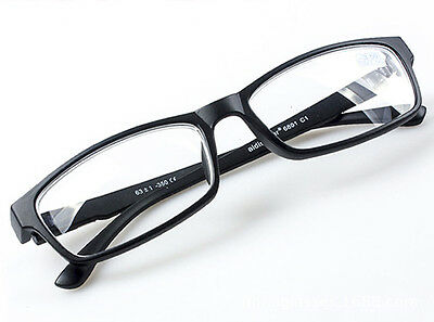 BLACK NEARSIGHTED GLASSES Minus Distance Rectangle Myopia Eyeglass -1.0 1.5 -4.0
