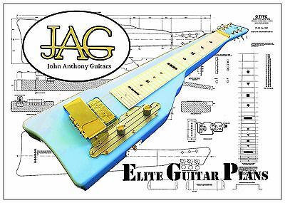 Luthiers Plan/Drawing for Gretsch Lap Steel guitar DIY project P060