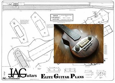 Luthiers Project Plan/Drawing for Gibson EH100 Lap Steel guitar Ideal Gift