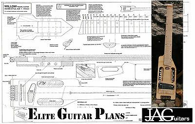 Luthiers Project Plan/Drawing for this Minitour travel guitar Ideal Gift