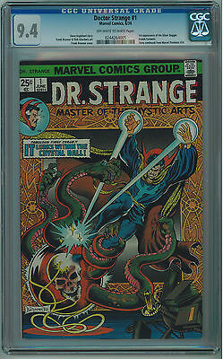 Dr. Strange #1 Cgc 9.4 3Rd Best Cgc Grade Off-White To White Pages Bronze Age