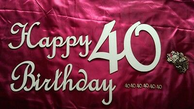 Wooden embellishment birthday sign confetti age number celebration gift