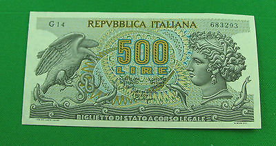 Italy 1966  500 Lire P93a very nice bank note