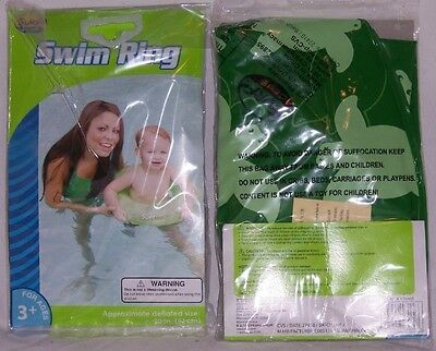 New Lot of 4 Surf Club Ages 3+ SWIM RING GREEN TURTLES Swimming Pool Kids Tube!