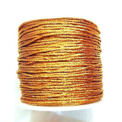 Golden Zari Cord Lace Thread Yarn Crochet Embroidery Jewelry DIY 70 Yards 1 mm
