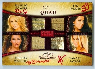 "Walcott Powers Wilder Taylor ""quad Bikini /1"" Benchwarmer Treasure Chest 15 Gold"