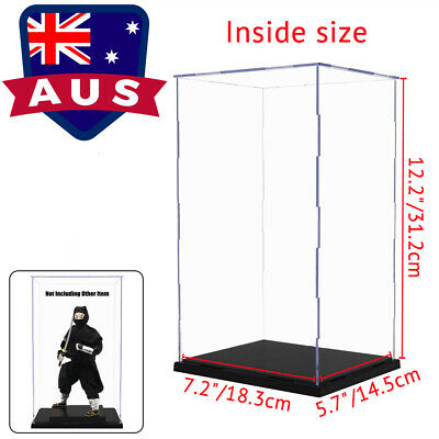 AU 31cm Acrylic Display Box Case Plastic Base Self-Assembly Dustproof Protection