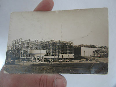 Rare Carte Photo Ancienne La Rochelle La Palice 1916 Construction Usine A Carder