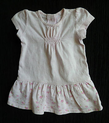 Baby clothes GIRL 0-3m NEXT soft brushed cotton pink frill dress SEE MY SHOP!!